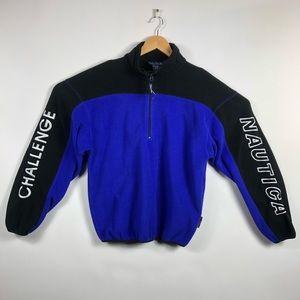 Vintage Nautica Challenge Fleece Pullover Jacket